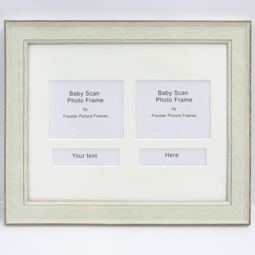 Pair Rectangle Shape Baby Scan Frame - Designer Picture Mounts. Bath